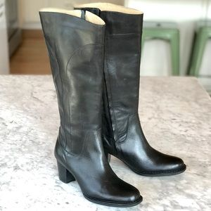 L.L. Bean | Stacked Heel Leather Boots